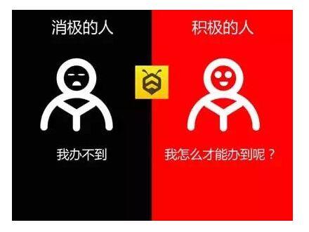 这个世界上有两种人,一种人是看到问题就开始变得消极,被问题困住;另外一种人是看到问题并解决问题,成为积极的人